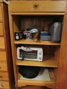 Small cupboard - housing all the good stuff.