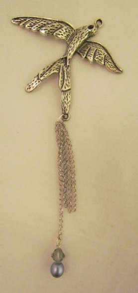 Bird pendant with chain dangles